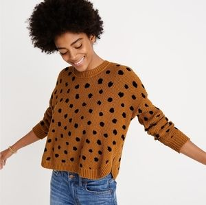 Madewell painted spots sweater